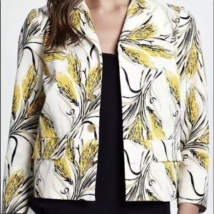 Tory Burch Ivory Wheat Sullivan Silk Jacket